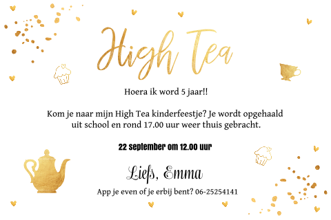 High Tea uitnodiging foto