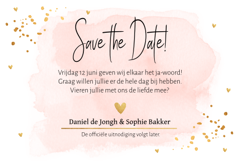 Save the Date waterverf confetti