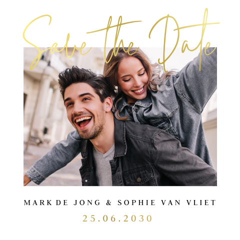 Save the Date kaart foto typografie