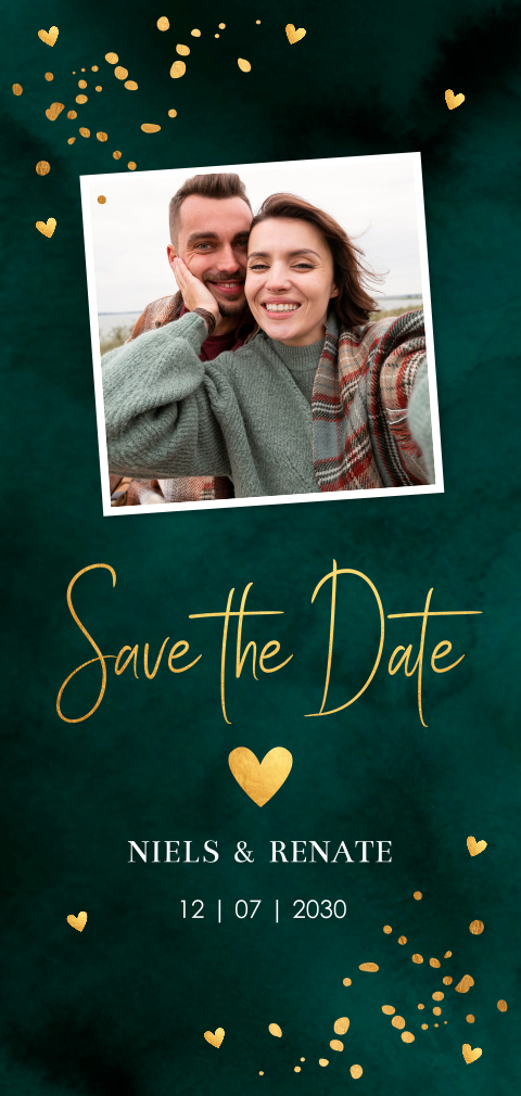 Save the Date kaart typografie