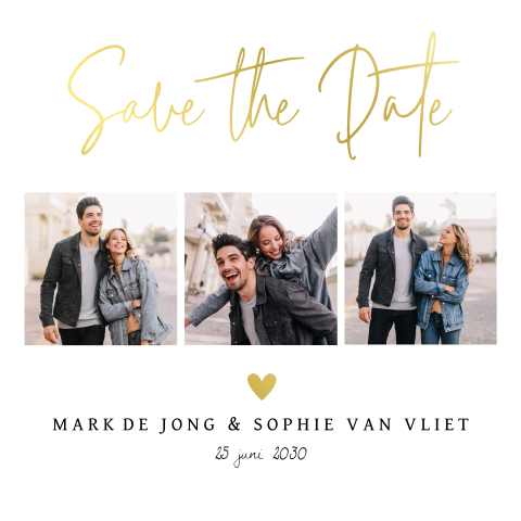 Save the Date kaart fotocollage