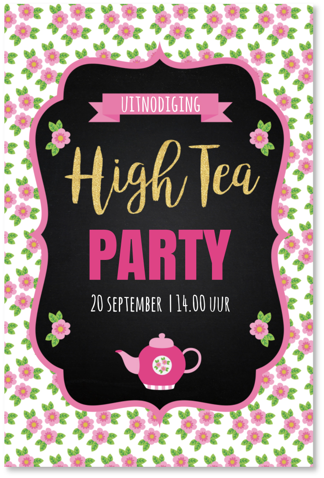 Goede High tea uitnodiging RZ-99