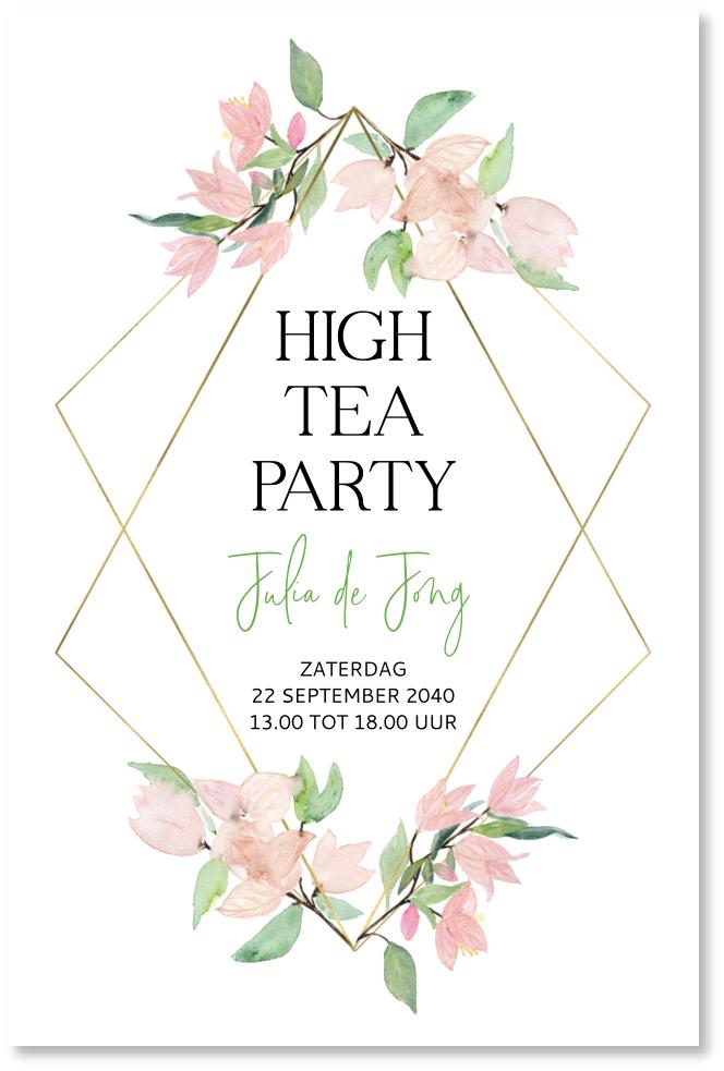 Betere High tea uitnodiging HU-02