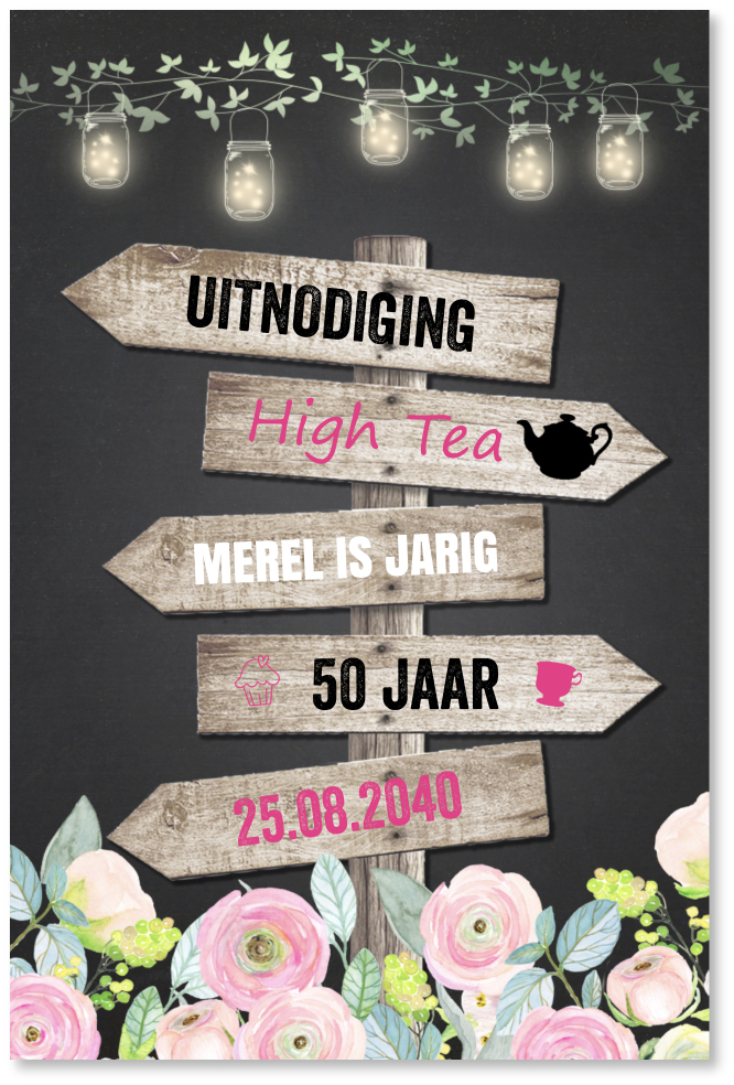 Ongekend High tea uitnodiging CJ-91