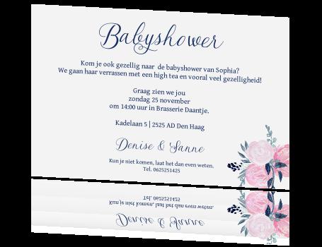 Babyshower Waterverf Bloemen