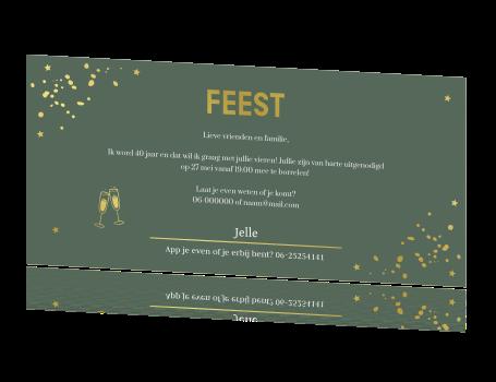 Uitnodigingen Verjaardag.Uitnodiging Verjaardag 40 Jaar