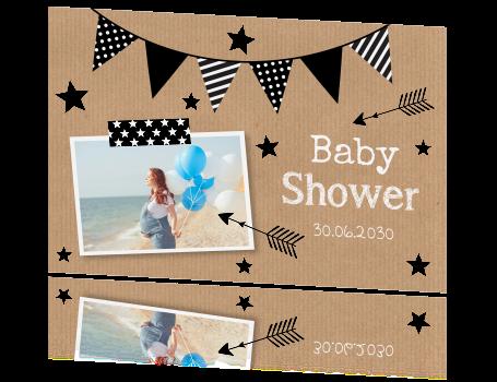home overige kaarten babyshower babyshower vlag