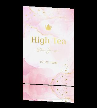 Beroemd High Tea uitnodiging &JK87