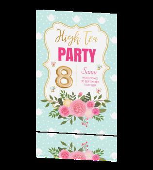Spiksplinternieuw High Tea uitnodiging BL-12